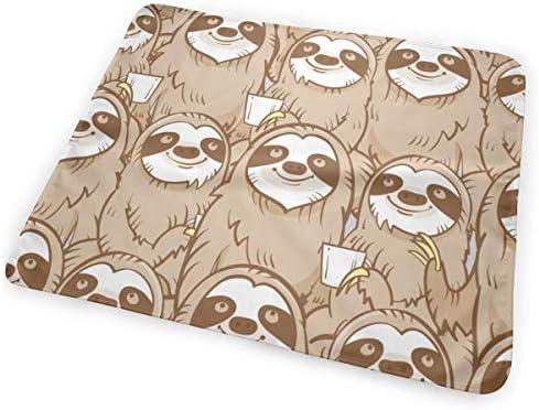 Cute Sloth Drinking 小さいながらも軽くて柔らかく快適な折り畳みが簡単なハイエンドのファッションシンプルなポップ絶妙なおむつパッド