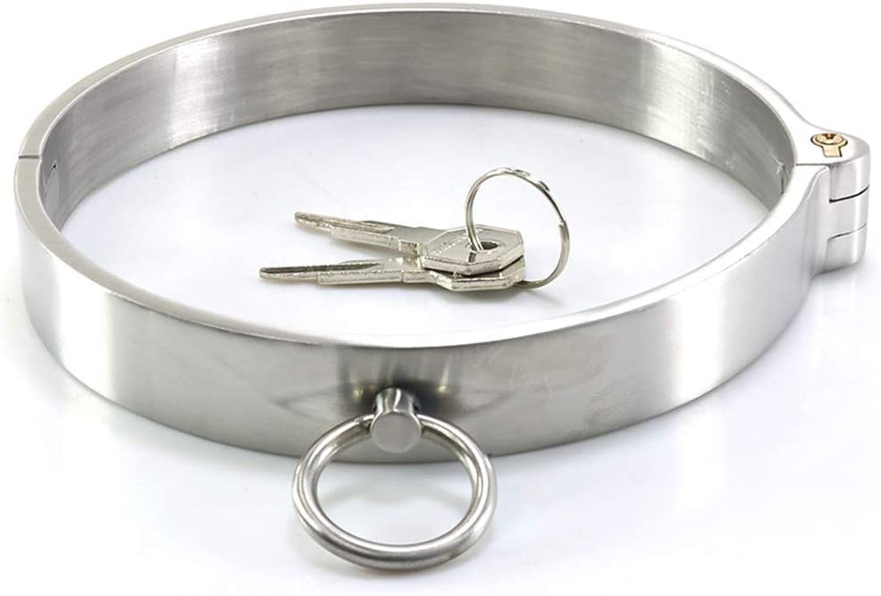 Slave Stainless Steel Neck Collar Neck Ring Adult Roleplay Toy Metal Rivet Spine