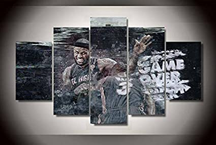 5af2d57185032 Lebron James NBA basketball player print poster canvas in 5 pieces ...