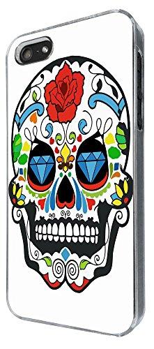 877 - Mexican Sugar Skull Skulls Design iphone 5 5S Coque Fashion Trend Case Coque Protection Cover plastique et métal