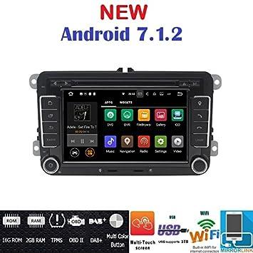 Navegador y radio para coche Android 7.1 GPS DVD USB SD Wifi BT. Radio 2 DIN GPS.: Amazon.es: Electrónica
