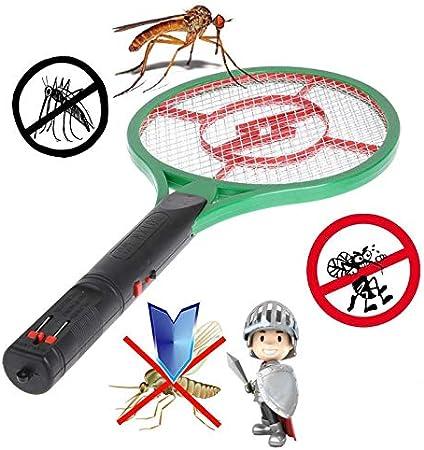 LinZX Eléctrico parásito de la Mosca asesina de Mosquitos Recargable jardín Raqueta del Mosquito: Amazon.es: Hogar