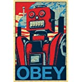 Obey Robot Pop Art Poster (24 x 36 inches)