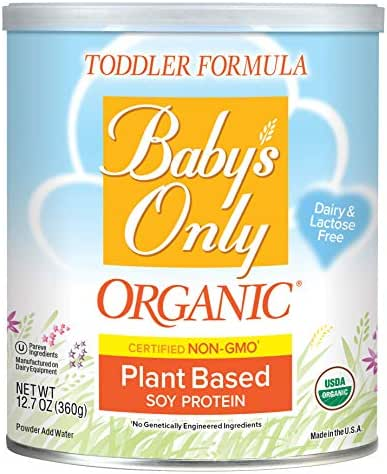 Baby's Only Organic Non-GMO Soy Protein Toddler Formula, Clean Label Project Verified, 12.7 oz