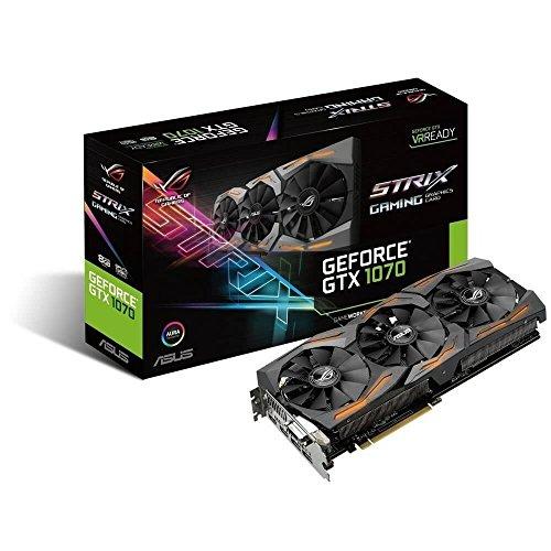 ASUS GeForce GTX 1070 8GB ROG STRIX 8GB 256-Bit GDDR5 PCI Express 3.0 HDCP Ready Video Card STRIX-GTX1070-8G-GAMING