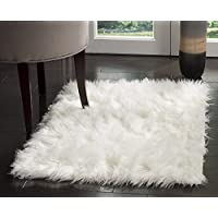 Pinkday Faux Sheepskin Area Rug Classic Rectangle Sheepskin Area Rug Plush Premium Shag Faux Fur Shag Runner (2x3 feet)