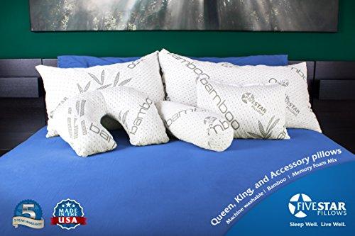 Five Star Bamboo Memory Foam Hypoallergenic Pillow