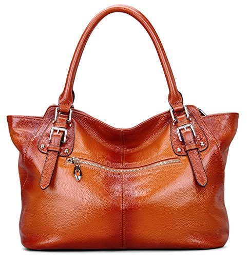 Handbags Ladys Cross handle Ainimoer Genuine Sorrel black Soft Purse Bag Shoulder Women Vintage Leather Tote Body Top wCq7SB
