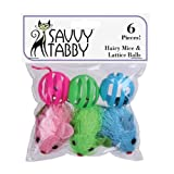 Hairy Mice and Lattice Balls (6 Pack), My Pet Supplies