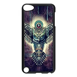 IPod Touch 5th Case,Aztec Tribal Owl Hign Definition Unique Design Cover With Hign Quality Hard Plastic Protection Case