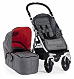 Bumbleride Indie 4 Urban All Terrain Stroller with Bassinet, Fog Grey