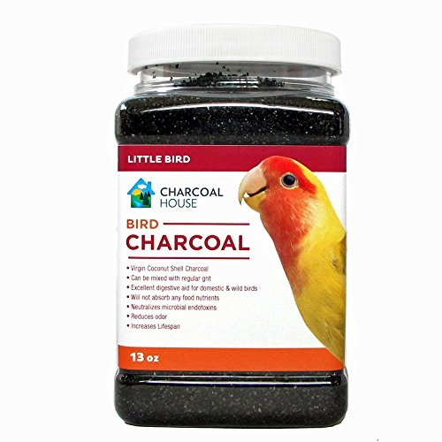 (1qt Bird charcoal For Small Birds - Activated charcoal granular - Health, healthy, canaries, parakeets, love birds and finches, cages)