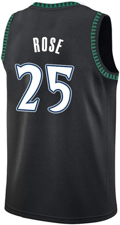 HS-YAN Rose # 25 de los Hombres Presionado-Heat Baloncesto Jersey ...