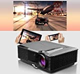 Video Projector, 3400 Lumens Home Theater Cinema, HDMI Full HD 1080p 720p Ready, Gaming Movie Outdoor Beamer, Smartphone Laptop DVD TV Compatible