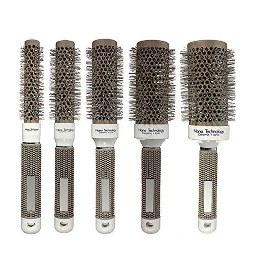 KingSo Hair Brush Haarbürste Ceramic Eisen Runde Kamm Friseur Hair Dressing Salon Styling
