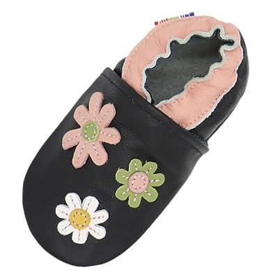 f4d047851ae1a Carozoo Chaussures Bébé Enfant à Semelle Souple Chaussons Cuir ...