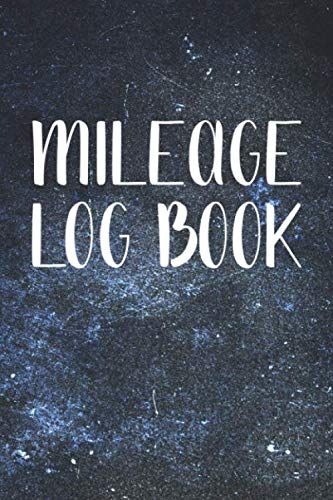 Mileage Log Book: Auto Mileage Log Book - Car Miles Tracker For Taxes and Expenses - Blue Grunge Cover