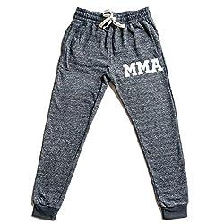 Men's Old School MMA V441 Graphic Snow Fleece Jogger Sweatpants X-Large Black