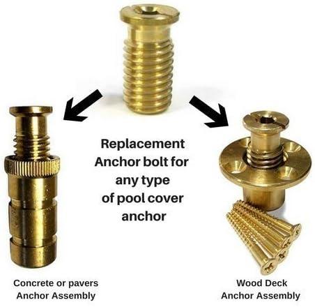 Wood Grip Pool Cover Brass Anchor Head Screw Bolt 10 Pack Amazon De Garten