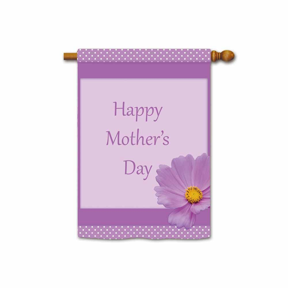 Amazoncom Hamory Happy Mothers Day House Flag Purple Flower
