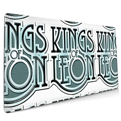 Kings of Leon Gaming Mouse Pad Custom for Home and Office, Modern Gold Cross Line Design for Women Non-Slip Rubber Thick Mouse Pad for Computers Desktops, PC, Laptop