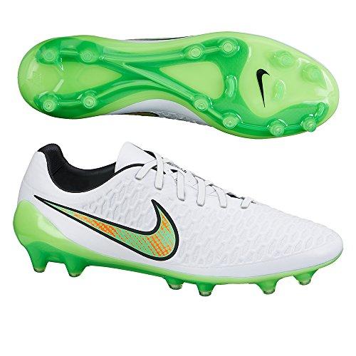 Nike , Herren Fußballschuhe UK WHITE/FLASH LIME-BLACK