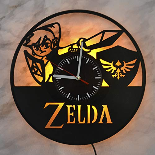 Zelda Video Game The Legend of Zelda Night Light Wall Lights Vinyl Record Wall Clock Interior Lights for Home Vinyl Wall Clock Perfect Room Interior Amazing Wall Design Idea The Best Gift (For Christmas Gifts Neighbours)