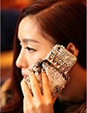 Luxury Bling Crystal Rabbit Fur Rhinestone Case Cover For Apple IPhone 6 IPhone 6 Plus