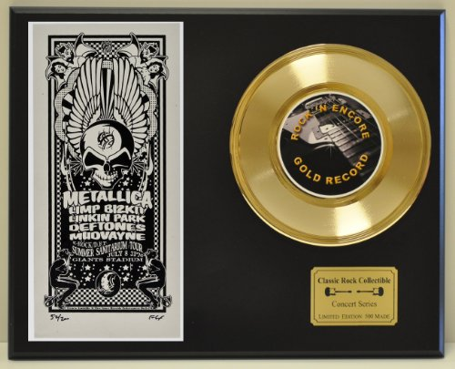 METALLICA Limited Edition Gold 45 Record Display. Only 500 made. Limited quanities. FREE US SHIPPING