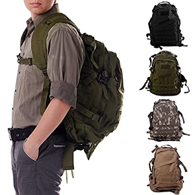HDE Heavy Duty Expandable 30L Military MOLLE Tactical Assault Backpack