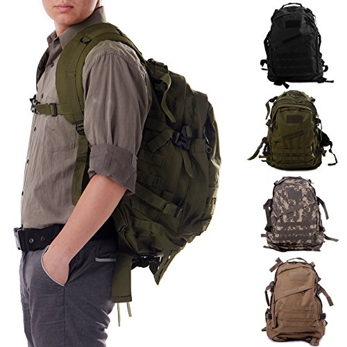 HDE Military Tactical Assault Army Backpack Rucksack 35L Molle Bug Out Daypack Bag for Camping Hiking Trekking Hunting Sports