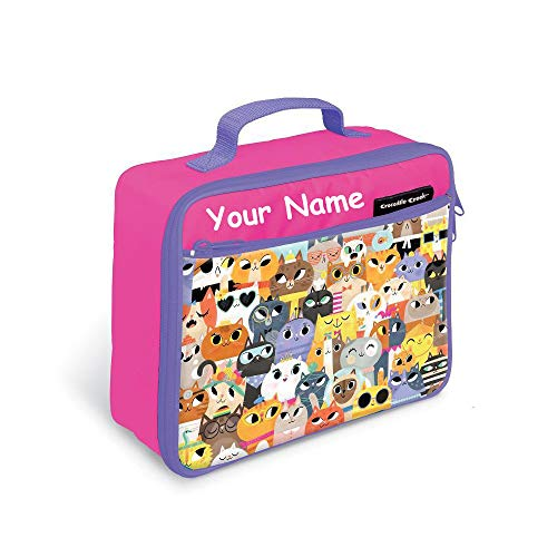 - Personalized Crocodile Creek Kids Cool Cats Lunchbox Lunch Bag Tote