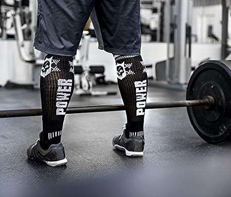 MOXY Socks Powerful Power Skull Knee-High Fitness Deadlift Socks