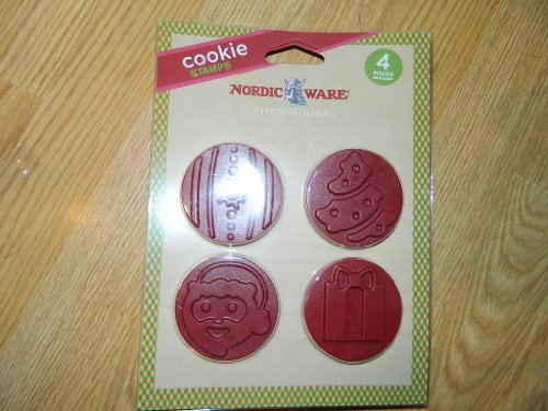 Nordic Ware Holiday Cookie Stamps - set of 4