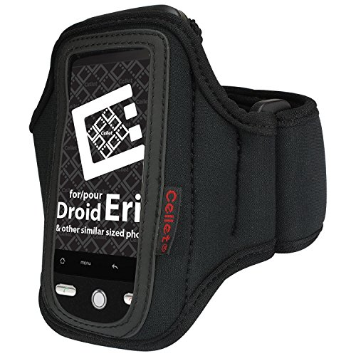 Armband for Smaller Phones and Devices such as the LG Enact, Samsung Array, iPod, MP3 Players and Other Similar Sized Devices by Cellet - Neoprene-Lightweight-Washable-Retail Packaging