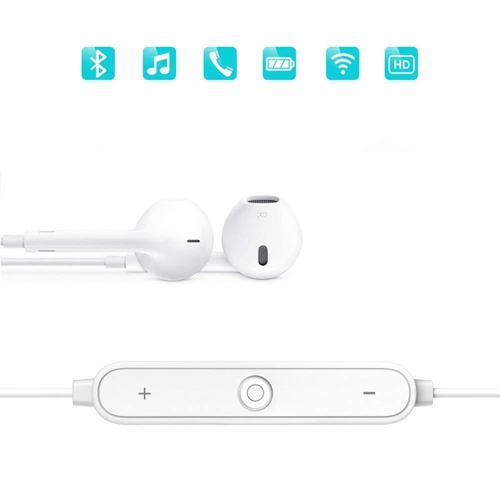 True Wireless Earbuds Bluetooth 5.0 Headphones 2019 Upgraded Version Sports in-Ear TWS Stereo Mini Headset Deep Bass IPX5 Waterproof Low Latency Instant Pairing 15H Battery Charging Case Earphones