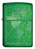 Zippo Iced World Meadow Lighter, Green, 5 1/2 x 3 1/2cm