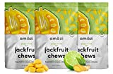 Amazi Jackfruit Chews – Ginger Lime Dried Fruit Chews – Healthy Snacks Rich in Vitamins, Antioxidants & Anti-Inflammatory Benefits – Organically Grown, Vegan, Paleo-Friendly Fruit Snacks – 3 Pack For Sale