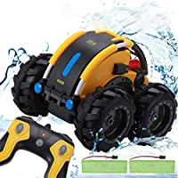Apsung Remote Control Car, 1/24 Scale Amphibious Vehicle for Kids 2.4GHz Off Road RC Truck with 4WD Electric Toy Car,...