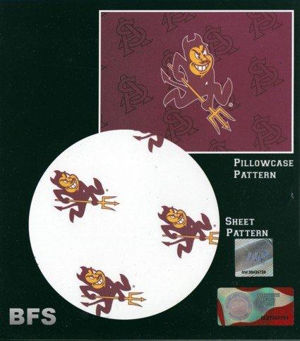 Northwest Arizona State Sun Devils X-Long Twin Sheet Set with Pillow Case