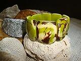 Tagua Nut Bracelet Eco Jewelery Apple Green Universal Fit