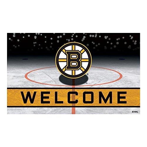 (FANMATS 21263 Team Color Crumb Rubber Boston Bruins Door Mat)