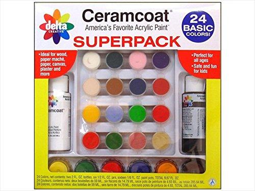 Delta Ceramcoat Super Pack Basic Colors