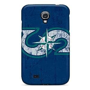 Samsung Galaxy S4 WIQ14653HBAt Custom Stylish Seattle Mariners Pattern Protector Hard Cell-phone Cases -KennethKaczmarek