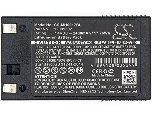 Replacement Battery for Monarch 12009502, Fit Model Monarch 6017 Handiprint,6032,6039(2400mAh,7.40V, Li-ion)