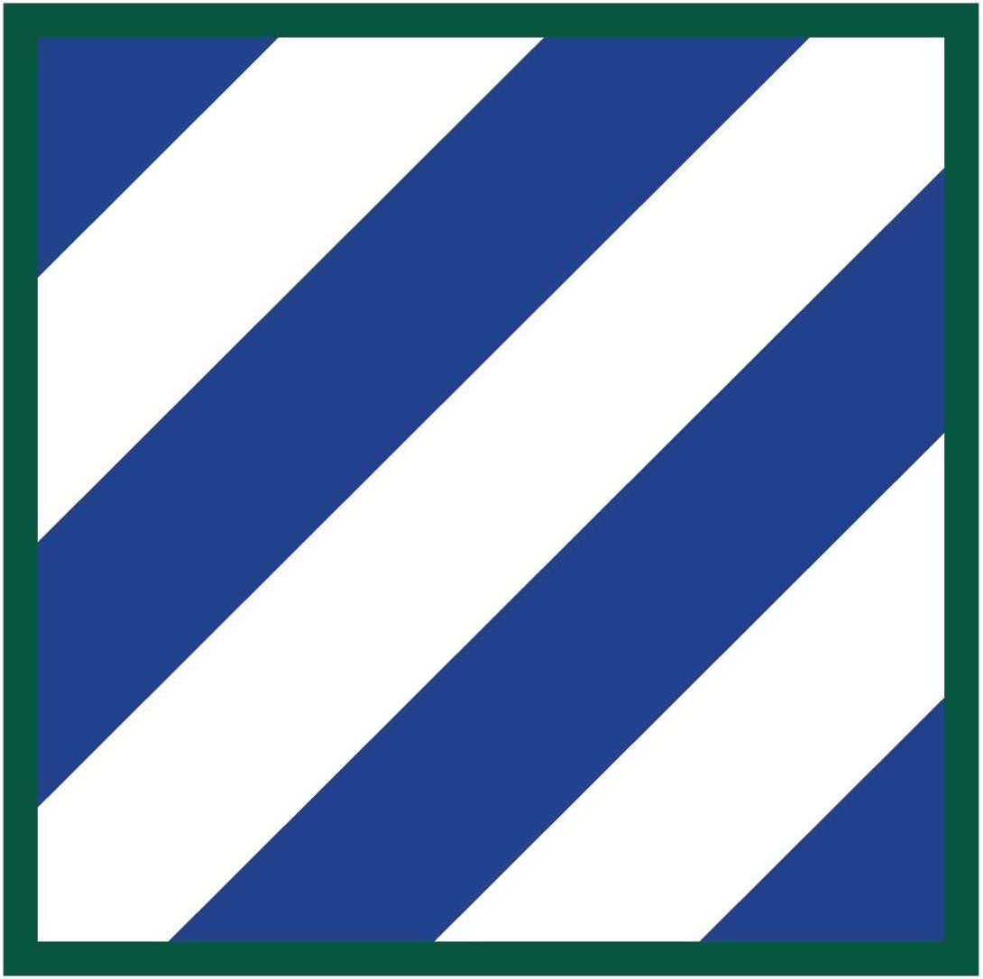 4 inch Indoor Outdoor Vinyl Decal Dope Waffles 3rd Infantry Division US Army Unit Insignia
