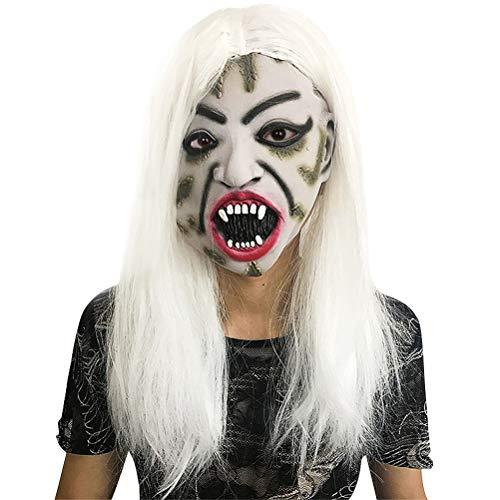 TOYANDONA Witch Mask Halloween Full Face Mask Halloween Ghost Mask Scary Face Mask for Costume Cosplay]()