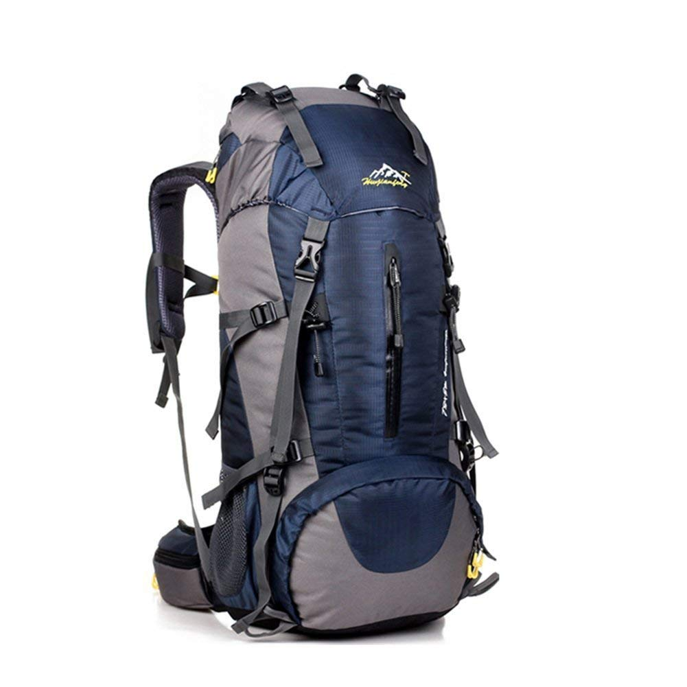 COUTUDI Hiking Backpack, 50L(45+5) Waterproof Outdoor Sport Daypack with Rain Cover for Climbing Mountaineering Camping Fishing Travel Cycling Skiing (dark blue) [並行輸入品] B07R4TZ3N4