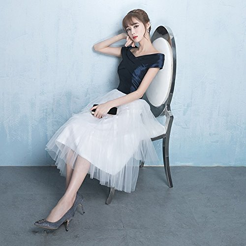 Tulle Short A Cap Simple Party Dress Grey Bridal Amore Wedding Line Sleeves Wvaqaxf