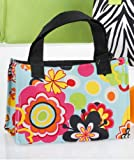 Flower Retro Bright Tote Lunch Bag Insulated School Work